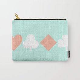 Turquoise & Coral (6) Carry-All Pouch