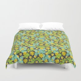 Yellow Ditsy Duvet Cover