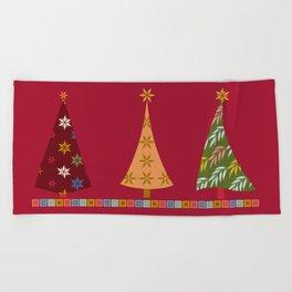 Merry Christmas! Beach Towel