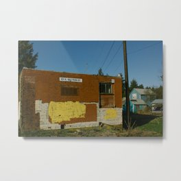 Brick Building - Mount Vernon, WA Metal Print