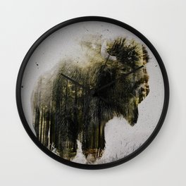 North American Bison Wall Clock