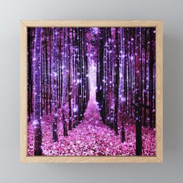 Magical Forest Pink & Purple Framed Mini Art Print