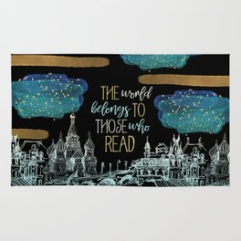 Stars Read the World Rug