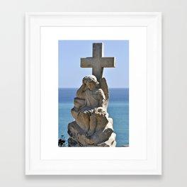Italian Angel with Cross Framed Art Print