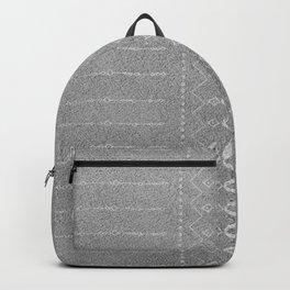 Modern Geometric Ethnic Pattern Gray Backpack