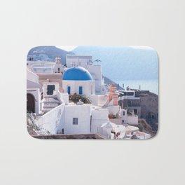 Santorini Island, Greece Bath Mat