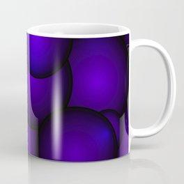 Background of blue molecules and balls. Coffee Mug
