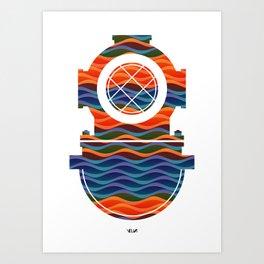 Scuba Collor Art Print