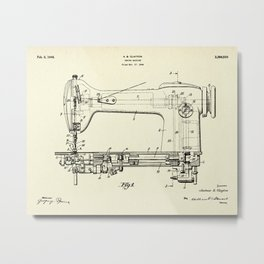 Sewing Machine-1944 Metal Print