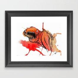 Paint Wash Monster #1 Framed Art Print