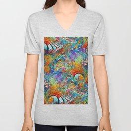 Colorful Iguana Art - Tropical Two - Sharon Cummings Unisex V-Neck