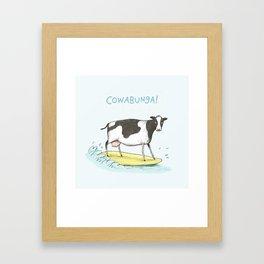 Cowabunga! Framed Art Print