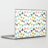 bows Laptop & iPad Skins featuring Spring bows by Demi Goutte