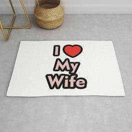 I Love My Wife Rug