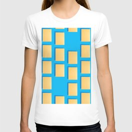 Abstract collage of sheets of colored paper T-shirt