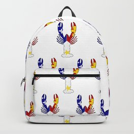 Peace Love & Crawfish allover Backpack