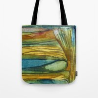 swimming Tote Bags featuring Swimming by Mary Ross: mary made