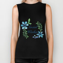 Social Worker For Women Social Worker Gifts Biker Tank