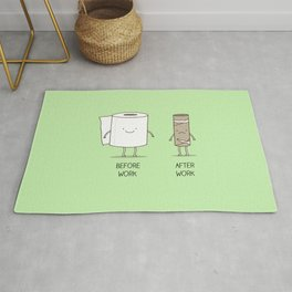 Toilet paper inspiration Rug