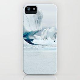Iceberg blue lagoon Icelandic travel photography iPhone Case