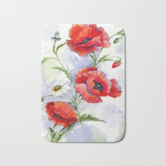 Poppies 08 Bath Mat