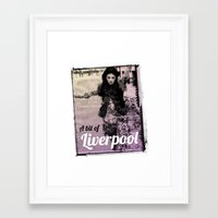liverpool Framed Art Prints featuring LIVERPOOL by TOO MANY GRAPHIX