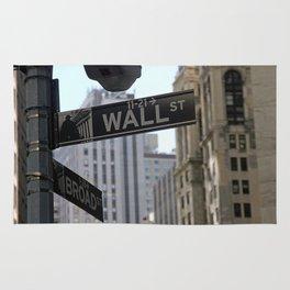Wall Street Sign Rug