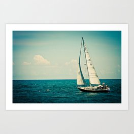 Sailing Lake Michigan Art Print