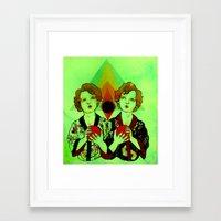 gemini Framed Art Prints featuring Gemini by Meagan Alwood Karcic