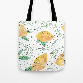 Lemonlicious Lemon Pattern Tote Bag