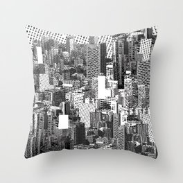 Lost in Metropolis Throw Pillow