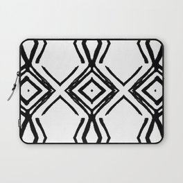 Black and White Diamond Pattern Laptop Sleeve