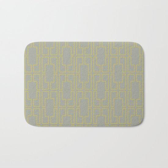 Simply Mid-Century Mod Yellow on Retro Gray Bath Mat
