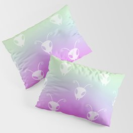 Bug Heads Insect Pattern Rainbow Gradient Pillow Sham