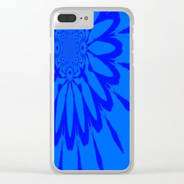 The Modern Flower Blue on Blue Clear iPhone Case