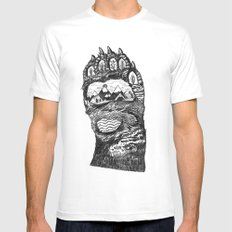 Bear Paw LARGE White Mens Fitted Tee