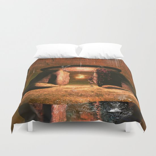 The mystical light ball Duvet Cover