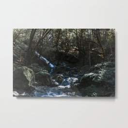 Chase the Waterfalls cataract falls California Bay Area Photograph Metal Print