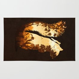 Squirrels in the Fall Rug