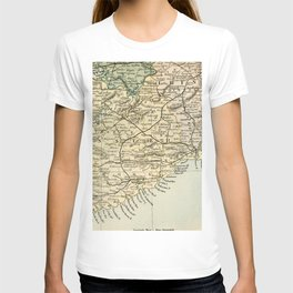Vintage and Retro Map of Southern Ireland T-shirt