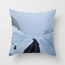 The winter pass Throw Pillow