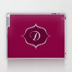 D Monogram Burgundy Laptop & iPad Skin