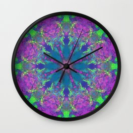 MANDALA NO. 19 #society6 Wall Clock