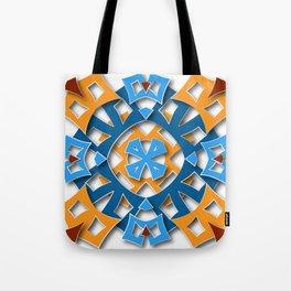 aztec mandala sun blue Tote Bag