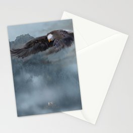 """""""Mother Eagle"""" -Inspirational Digital Art  Stationery Cards"""