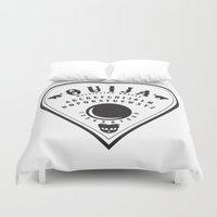 ouija Duvet Covers featuring OUIJA PLANCHETTE by ANOMIC DESIGNS