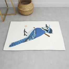 Baseball Blue Jay Rug