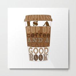 Coffee And Books Metal Print