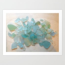 Ocean Hue Sea Glass Kunstdrucke