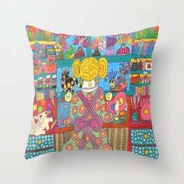 Doing Dishes With Friends Throw Pillow